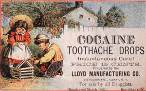 Advertisment for Cocaine Drops 1885