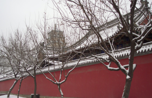 Photograph of old buildings in city of Xi An