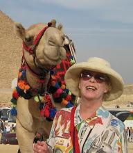 Brenda Dougall Merriman with camel