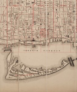 Historical map of Toronto