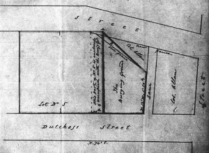 Sketch of burial ground location
