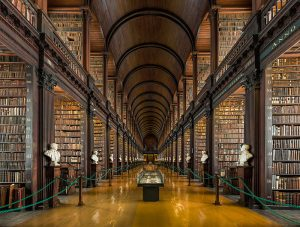 View inside Trinity College, Dublin