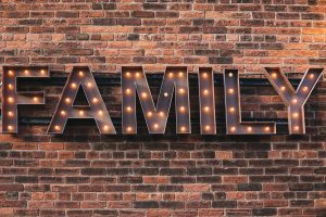 "Word ""family"" in lights"