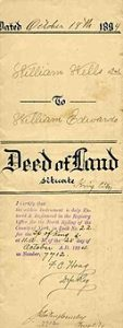 deed of land